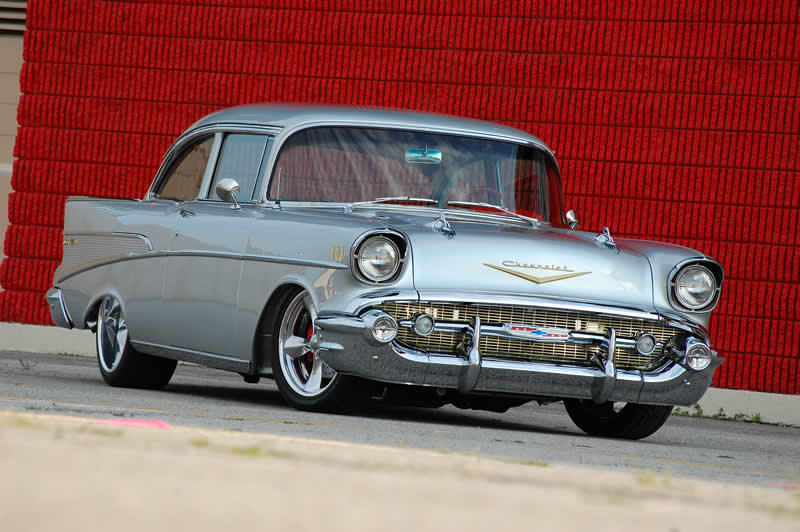 classic 57 chevy car